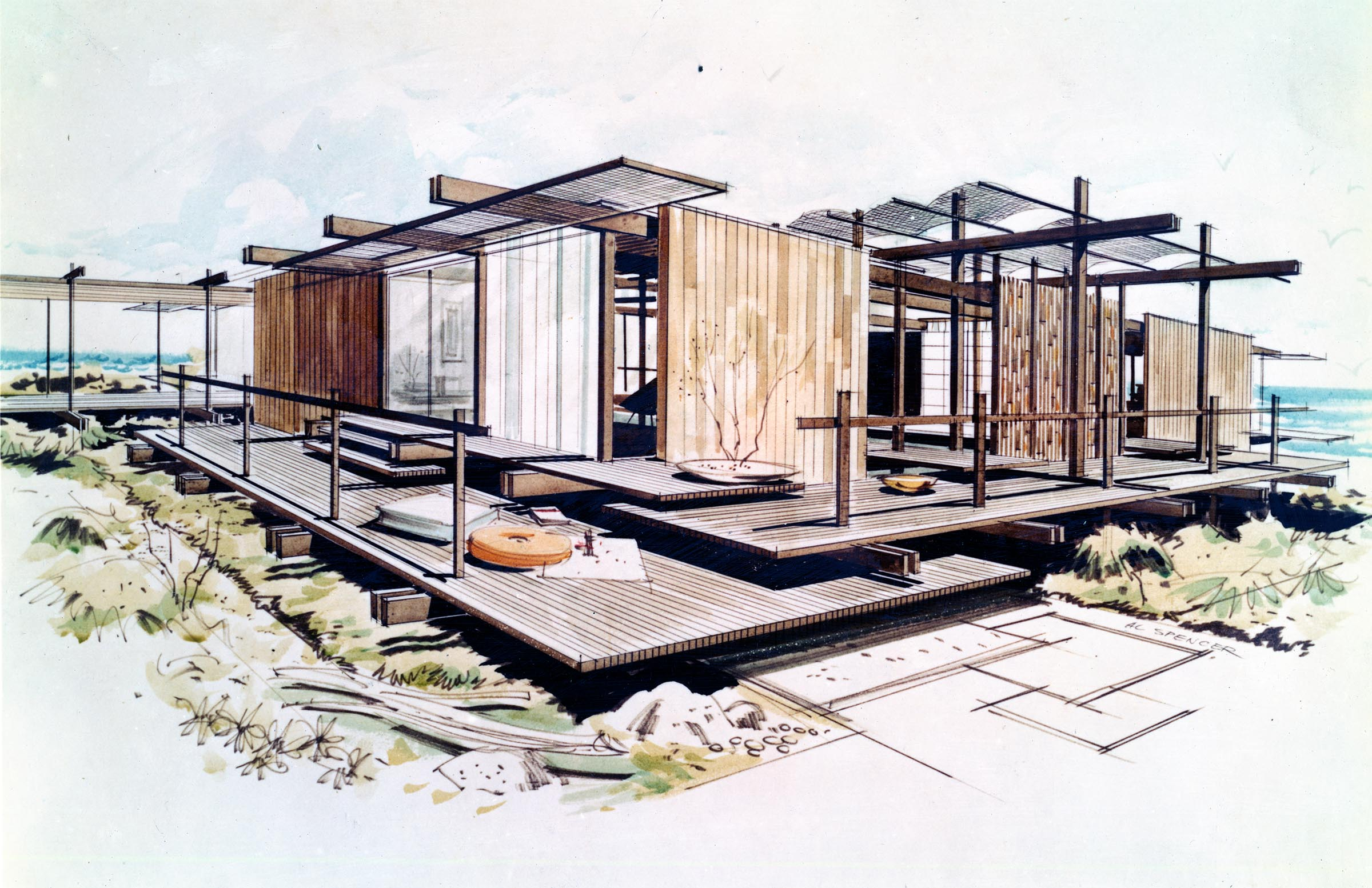 Exhibitions pacific standard time presents Drawing modern houses